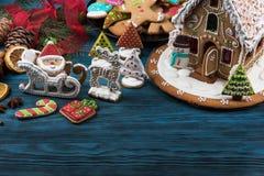 Pão-de-espécie para anos novos e Natal Imagens de Stock