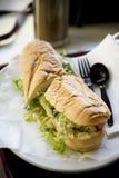 Po de Sandwich van de Jongen stock foto