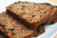 Pão do Zucchini Fotografia de Stock