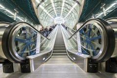 Po drugie linia Warszawski metro system Obrazy Royalty Free