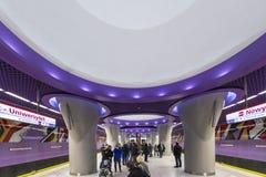 Po drugie linia Warszawski metro system Zdjęcie Stock