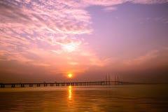 Po drugie Penang most obrazy stock