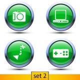 Po drugie ustawiający cztery realistycznej ikony Zdjęcia Stock