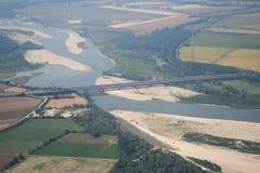 po-flod Royaltyfria Foton