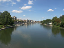 po-flod turin Arkivfoto