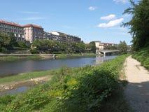 po-flod turin Fotografering för Bildbyråer