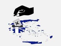 po grecku wyborów głosowania royalty ilustracja
