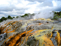 Po Hutu Geiser, Rotorua, Nieuw Zeeland Royalty-vrije Stock Afbeelding