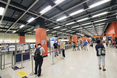 Po Lam MTR σταθμός στο Χονγκ Κονγκ Στοκ Εικόνα