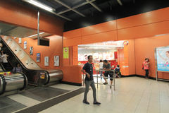 Po Lam MTR station in Hong Kong Royalty Free Stock Images