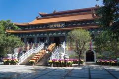 Po Lin μοναστήρι, νησί Lantau, Χονγκ Κονγκ, Κίνα Στοκ Φωτογραφία