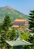 Po Lin μοναστήρι που βρίσκεται στο οροπέδιο μεταλλικού θόρυβου Ngong, στο νησί Lantau, Χονγκ Κονγκ Στοκ Εικόνες