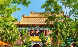 Po Lin μοναστήρι που βρίσκεται στο οροπέδιο μεταλλικού θόρυβου Ngong, στο νησί Lantau, Χονγκ Κονγκ Στοκ φωτογραφία με δικαίωμα ελεύθερης χρήσης