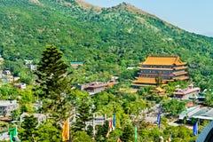 Po Lin μοναστήρι που βρίσκεται στο οροπέδιο μεταλλικού θόρυβου Ngong, στο νησί Lantau, Χονγκ Κονγκ Στοκ εικόνα με δικαίωμα ελεύθερης χρήσης