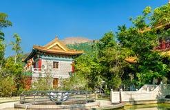 Po Lin μοναστήρι που βρίσκεται στο οροπέδιο μεταλλικού θόρυβου Ngong, στο νησί Lantau, Χονγκ Κονγκ Στοκ Εικόνα