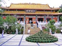 Po Lin μοναστήρι στο νησί Lantau στο Χονγκ Κονγκ Στοκ Εικόνα