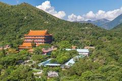 Po Lin μοναστήρι στο νησί Lantau, Χονγκ Κονγκ Στοκ εικόνα με δικαίωμα ελεύθερης χρήσης