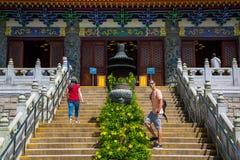 Po Lin μοναστήρι στο νησί Lantau Στοκ Εικόνα