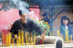 Po Lin μοναστήρι στο Χονγκ Κονγκ, Κίνα Στοκ Εικόνα