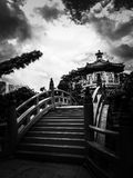 Po Lin μοναστήρι, Χονγκ Κονγκ σε γραπτό Στοκ Φωτογραφίες