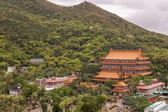 Po Lin Buddhist Monastery, Hong Kong China imagens de stock royalty free