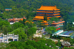Po lin klooster, lantaueiland, Hongkong royalty-vrije stock afbeelding