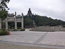 Po Lin Monastary a Hong Kong Fotografia Stock Libera da Diritti