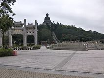 Po Lin Monastary in Hongkong. Best tourist attraction Royalty Free Stock Photography