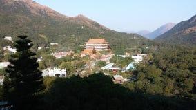 Po Lin monaster, Lantau wyspa, Dzwoniący Chung, Hong Kong Zdjęcia Stock