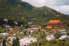 Po Lin monaster na Lantau wyspie Fotografia Royalty Free