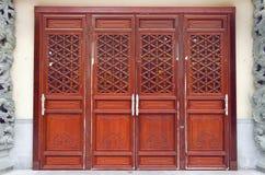 Po Lin Monastery Door Royalty Free Stock Images