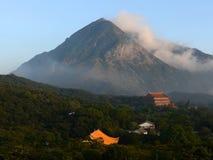 Po Lin Monastery at the foot of Lantau Peak, Hong Kong.  Royalty Free Stock Photo