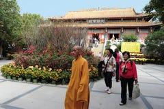 Po Lin Monastery in Hong Kong, China Royalty Free Stock Image