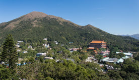 Po Lin Monastery, ilha de Lantau, Hong Kong, China foto de stock