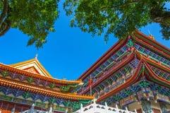 Po Lin Monastery, ilha de Lantau, Hong Kong, China imagem de stock