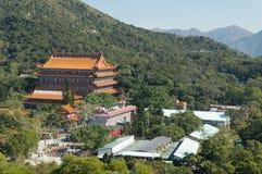 Po Lin Monastery, ilha de Lantau, Hong Kong, China fotografia de stock