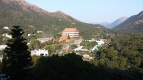 Po Lin Monastery, ilha de Lantau, Tung Chung, Hong Kong fotos de stock