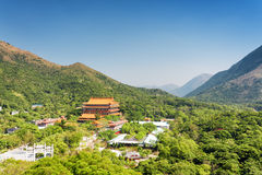 Po Lin Monastery and landscape of Lantau Island Royalty Free Stock Images