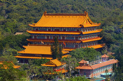Po lin monastery, lantau, hong kong. Po lin monastery as viewed from top of the tian tan buddha or the big buddha of lantau island Royalty Free Stock Image