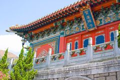 Po Lin Monastery, Lantau Island, Hong Kong, China. Exterior of the buddhist Po Lin Monastery, Lantau Island, Hong Kong, China Stock Image