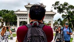 Po Lin Monestary stock footage