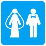 Poślubia Persons Zaokrąglającą Kwadratową Raster ikonę royalty ilustracja