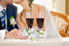 poślubia wino Obrazy Stock