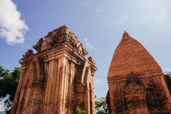 Po Nagar Cham παγόδα πύργων σε Nha Trang, Βιετνάμ Στοκ εικόνα με δικαίωμα ελεύθερης χρήσης