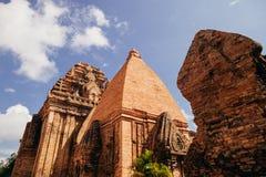 Po Nagar Cham παγόδα πύργων σε Nha Trang, Βιετνάμ Στοκ Εικόνες