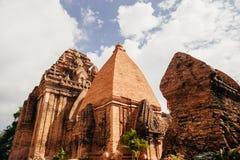 Po Nagar Cham παγόδα πύργων σε Nha Trang, Βιετνάμ Στοκ Φωτογραφίες