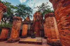 Po Nagar Cham BA Po Nagar Thap πύργων στοκ εικόνες