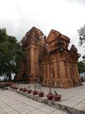 Ancient Cham temple, Vietnam stock photography