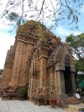 Ancient Cham temple, Vietnam royalty free stock photo