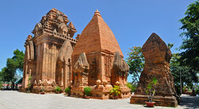 Po Nagar Cham torens, Nha Trang. Stock Afbeeldingen